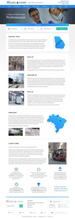 KaMin operations page design