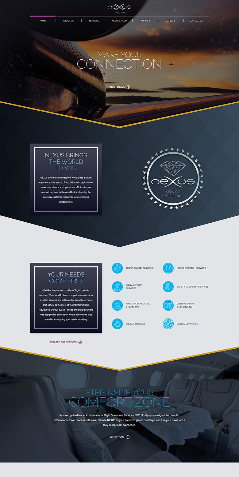 Nexus home page design
