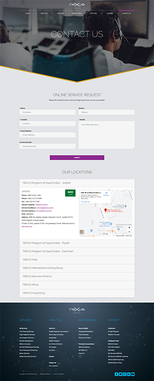 Nexus website design