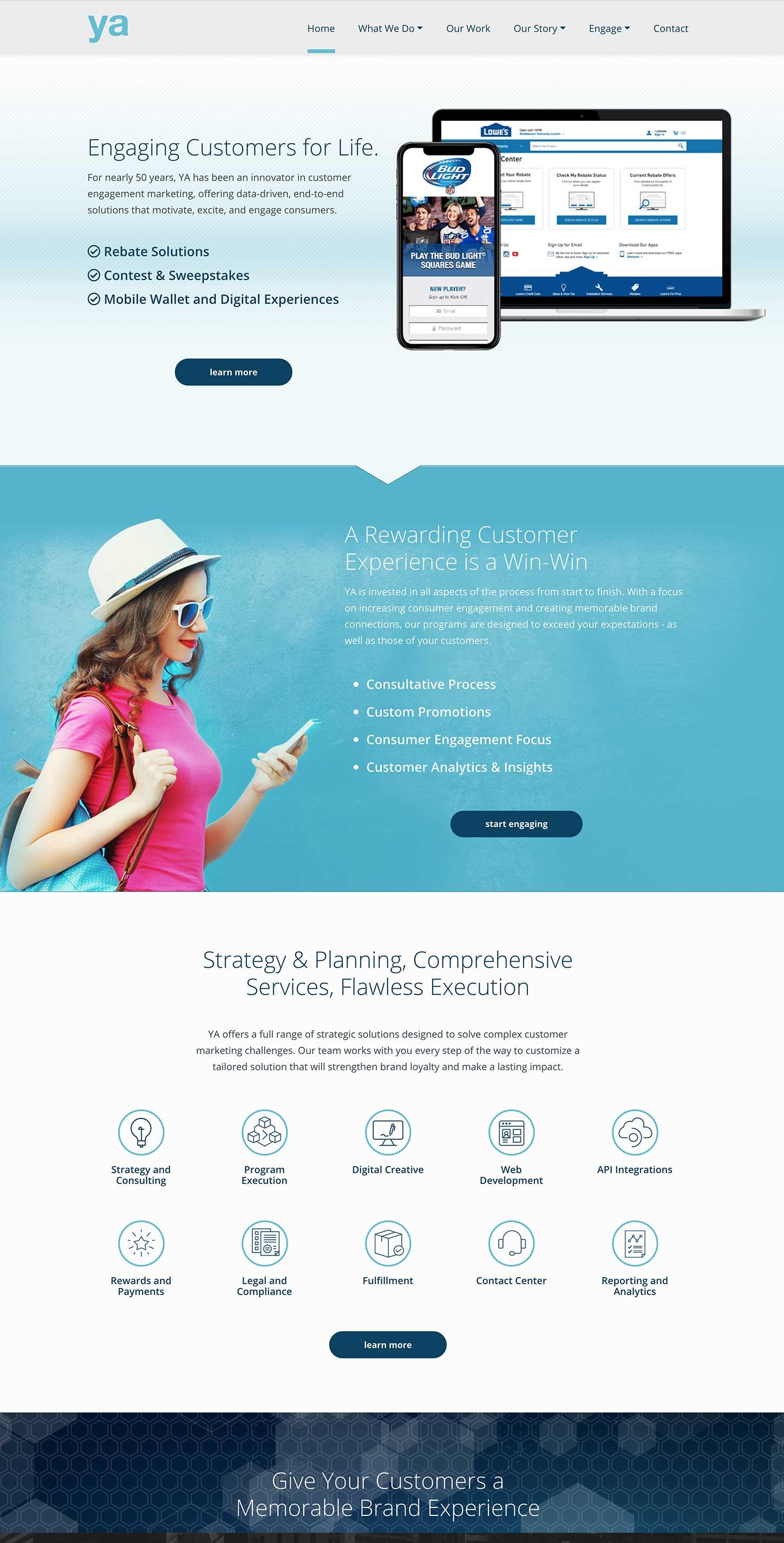 YA Engage website design