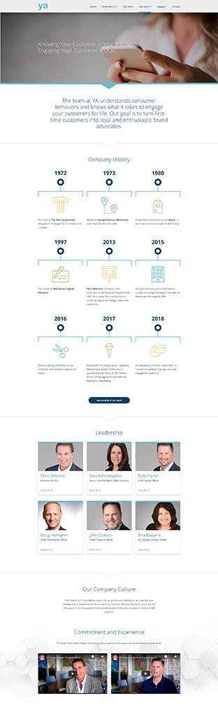 YA website design