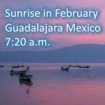 sunrise in February in Guadalajara Mexico