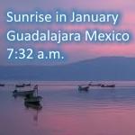 Sunrise time in Guadalajara January