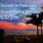 Sunset hour in February Guadalajara