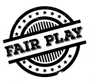 this image says fair play