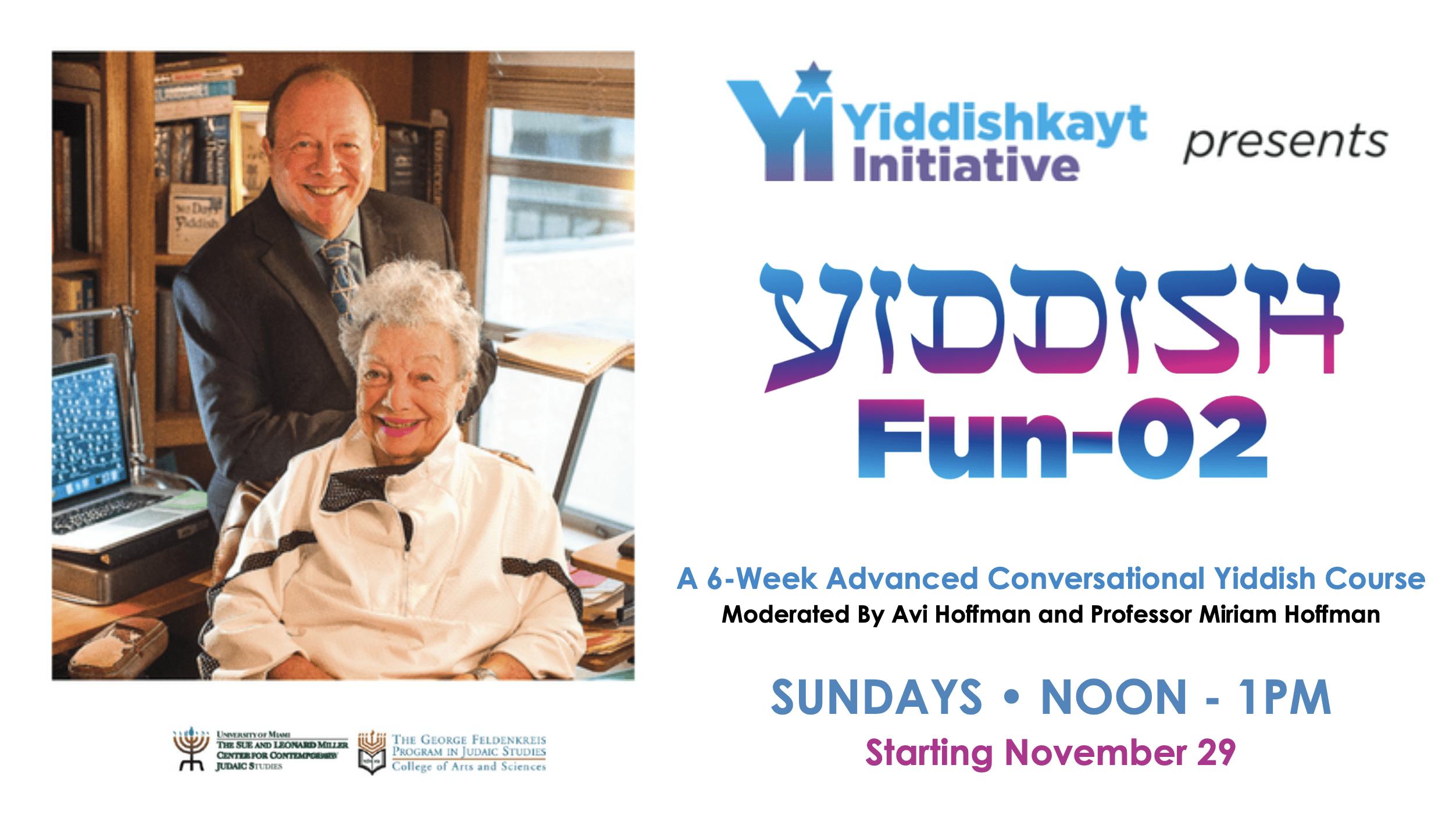 Yiddish Fun-01 Yiddish Language Class