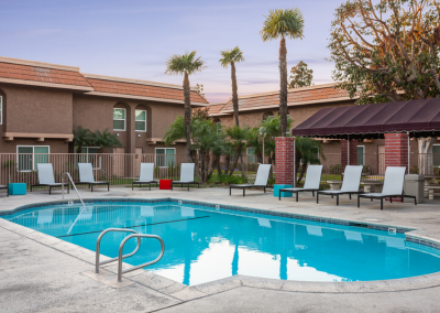 The Jackson Apartment pool area