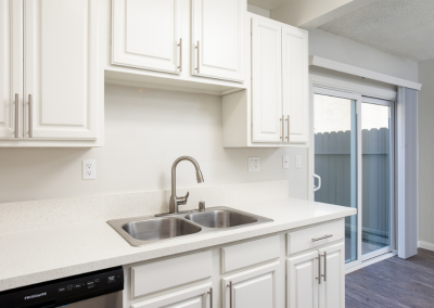 Sparkling quartz counters and modern, Stainless Steel Details