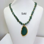 Green Adventure Necklace with Agate