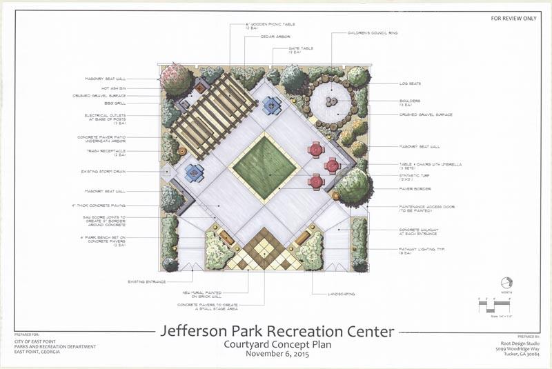 Jefferson Park Recreation Center - Courtyard - 00-MP