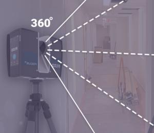 3D scanner rotating in 360 degrees