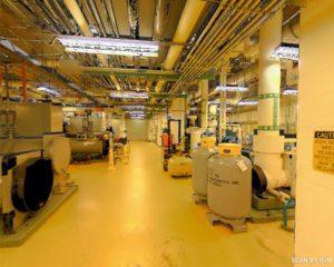 3D laser scan of a mechanical room