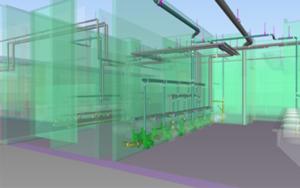 BIM model of a university field house