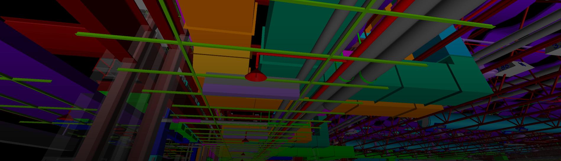 Ceiling grid BIM model