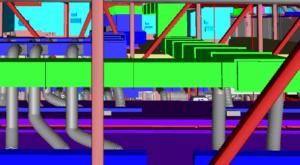 Warehouse BIM Model of Ductwork