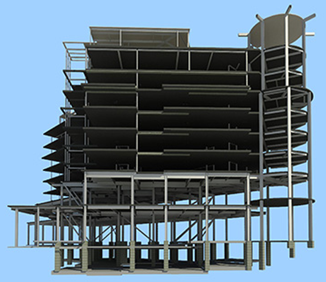 Structural BIM drawing done in Revit