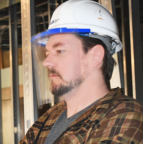 Construction Hard Hat Face Shield