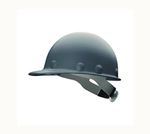 Grey Fibre Metal Hard Hat