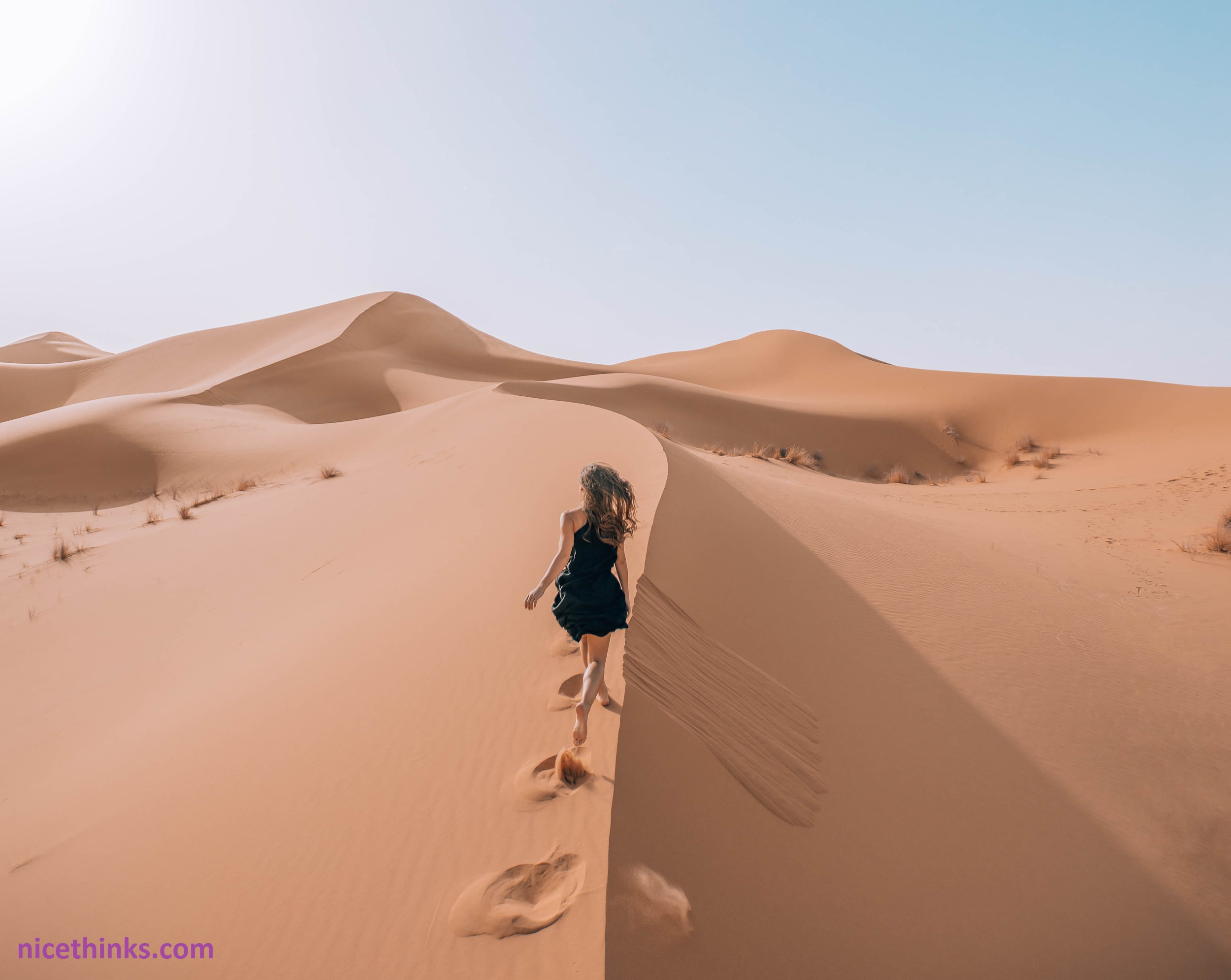 The beautiful atmosphere of the desert