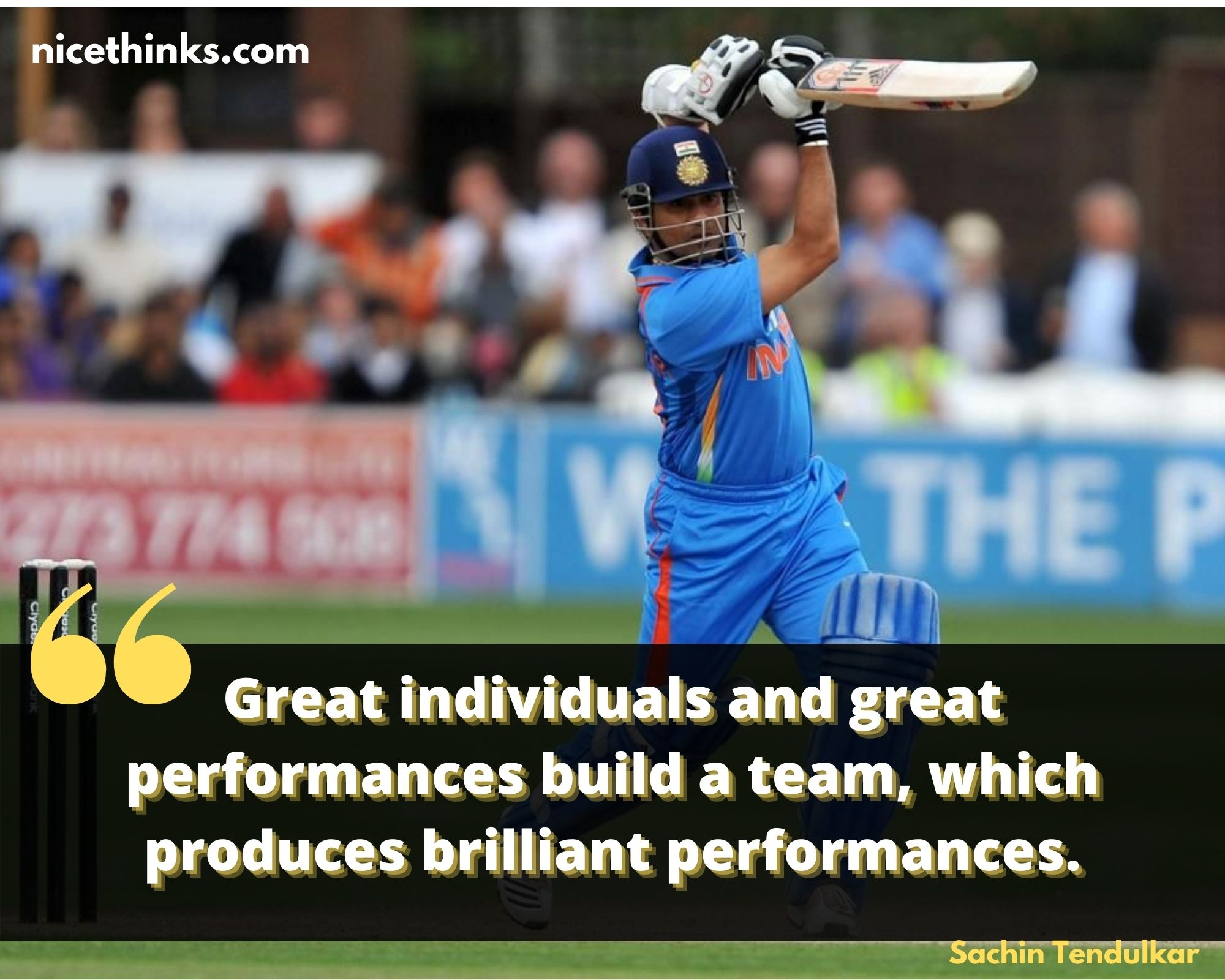 cricket quotes by sachin tendulkar