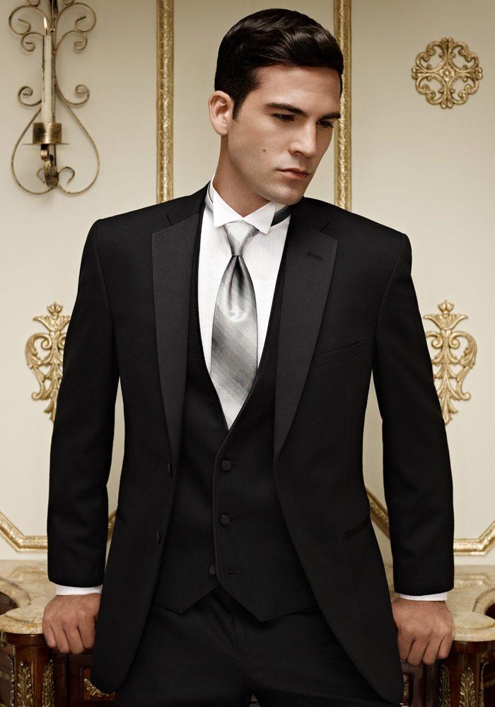 Jean Yves Black Stripe Ridge Tuxedo