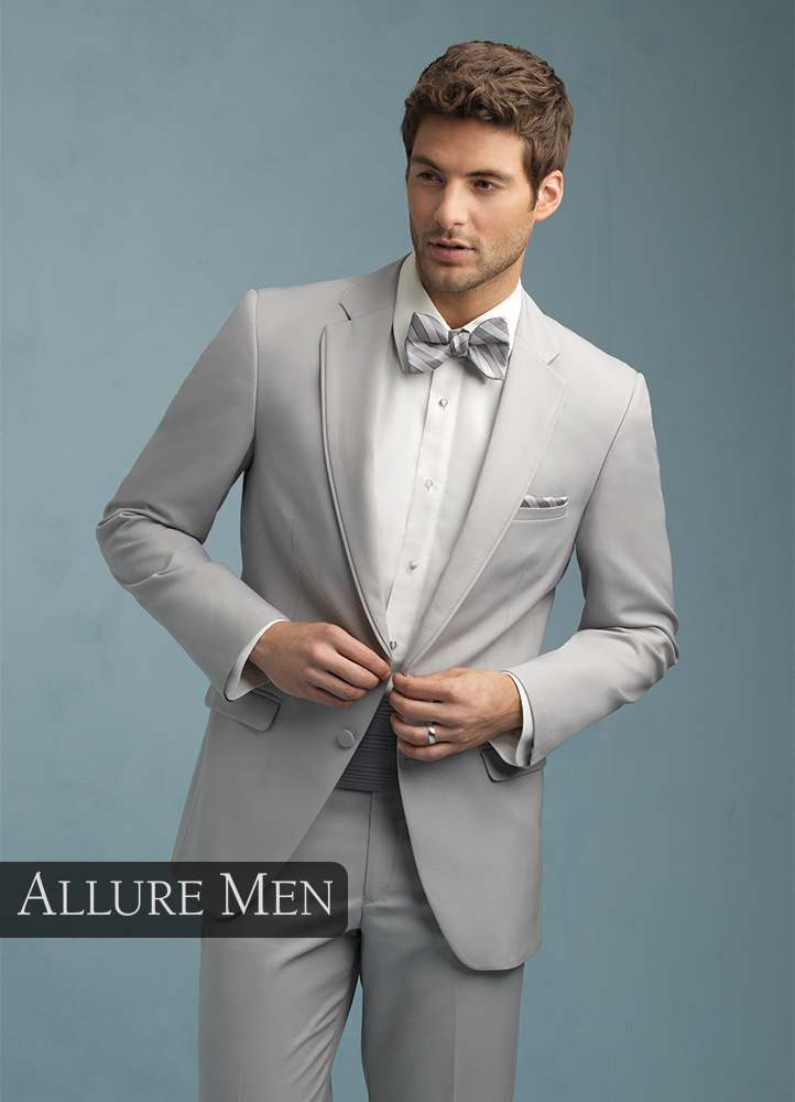 Allure Men Cement Grey Bartlett Tuxedo