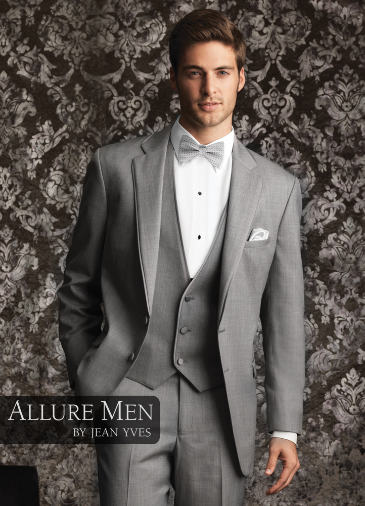 Allure Men Heather Grey Bartlett Tuxedo