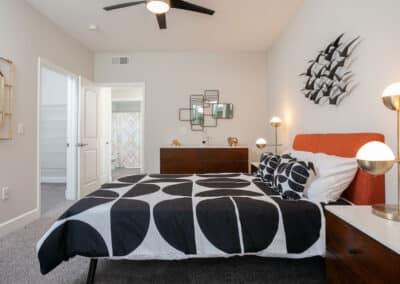 Modern and stylish bedroom