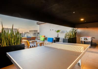 rooftop deck ping pong table