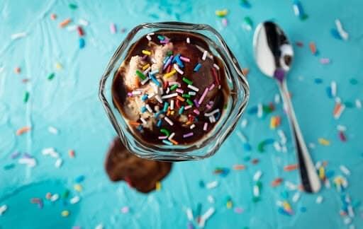Delicious homemade chocolate ice cream