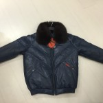 VINTAGE DOUBLE F.A.T. GOOSE -80'S NAVY WITH FOX COLLAR