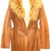 Three Quarter Gobi Leather Coat