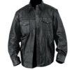 Men Lambskin Leather Shirt