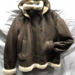 Women Shearling Leather B-3 Bomber Jacket