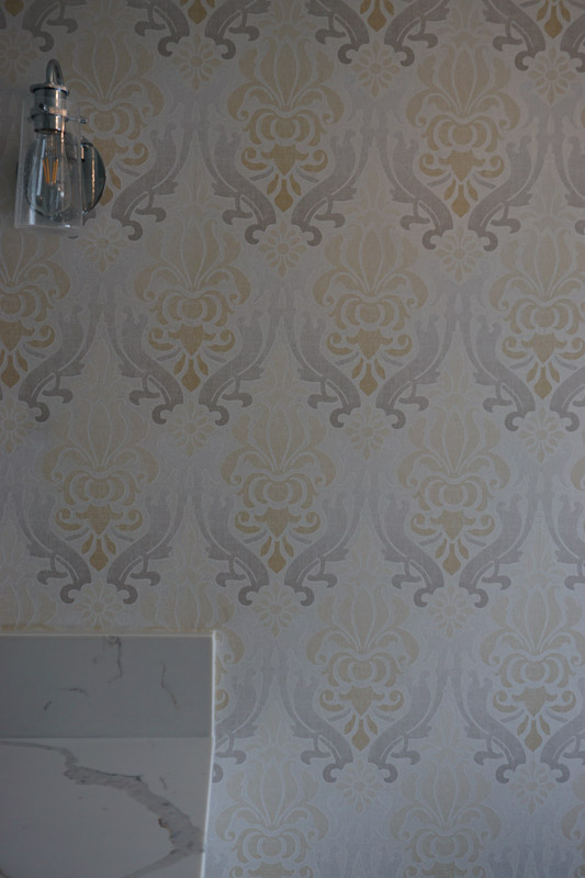 Ornate wall coverings.