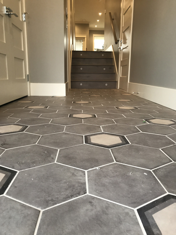 Italian tile entry