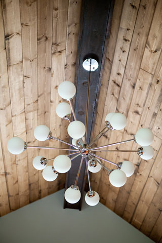 This retro design opal glass light pendant adds to the eclectic ambiance of my space creating a perfect blend of old and new.