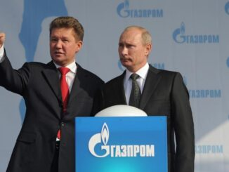 Russia President Vladimir Putin and CEO of Russian natural gas giant Gazprom - Alexei Miller -