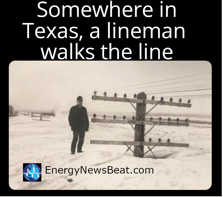 Somewhere in Texas, A lineman does his thing