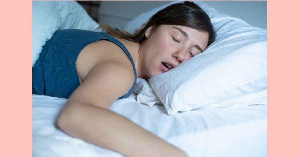 woman sleeping while listening to hypnobirthing mp3