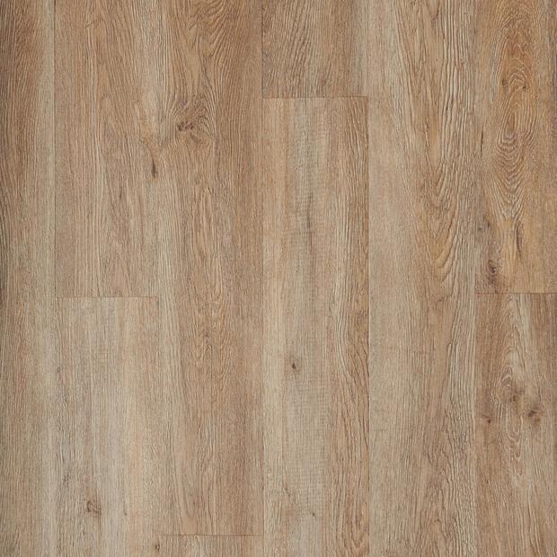 100109750 driftwood oak rigid core luxury vinyl plank  cork back display