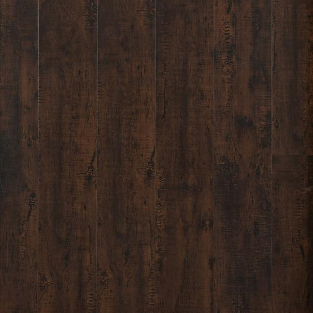 100109818 cocoa oak rigid core luxury vinyl plank  cork back display