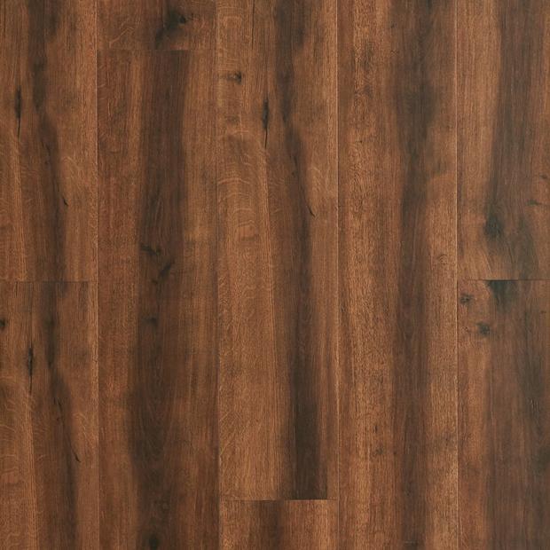 100109826 chestnut rigid core luxury vinyl plank  cork back display