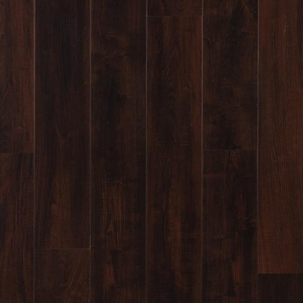 100376805 dark mahogany rigid core luxury vinyl plank  cork back display