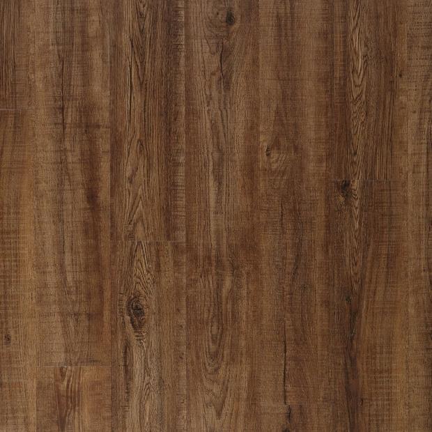 100378876 coffee oak rigid core luxury vinyl plank  cork back display