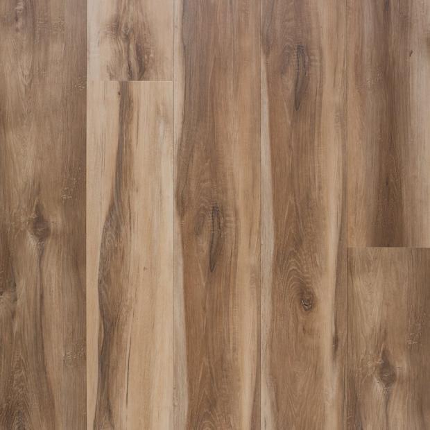 100497379 spalted oak rigid core luxury vinyl plank  cork back display