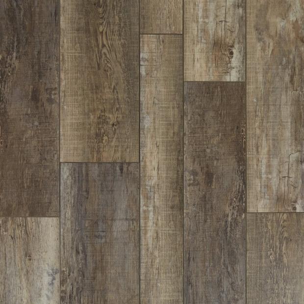 100505155 river port multi width rigid core vinyl plank  cork back display