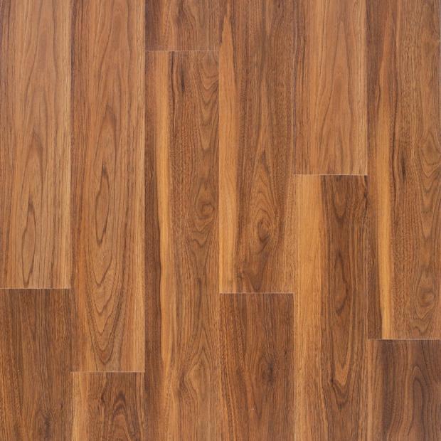 100585017 henna walnut rigid core luxury vinyl plank  foam back display