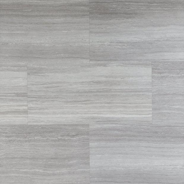 100585033 travertine mist rigid core luxury vinyl tile  foam back display