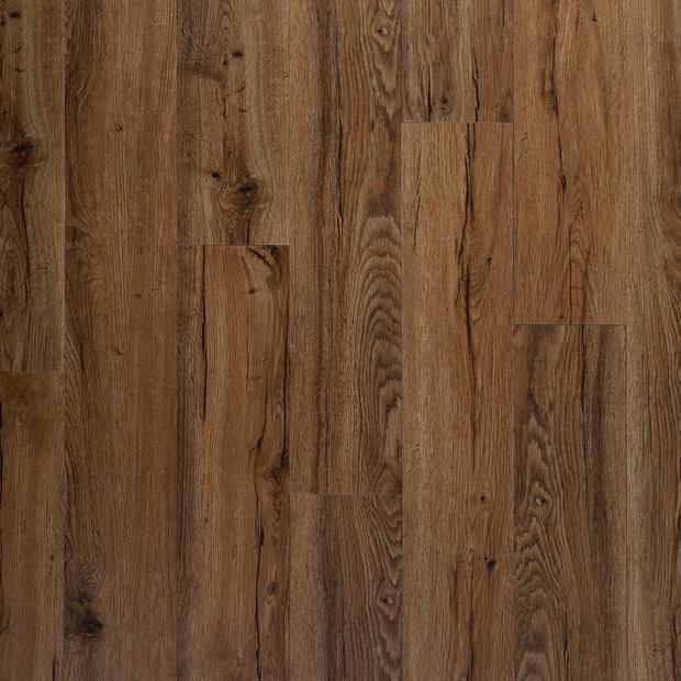 100654755 auburn oak rigid core luxury vinyl plank  foam back display